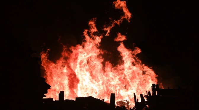 Pallet Fire at Former Mill Site