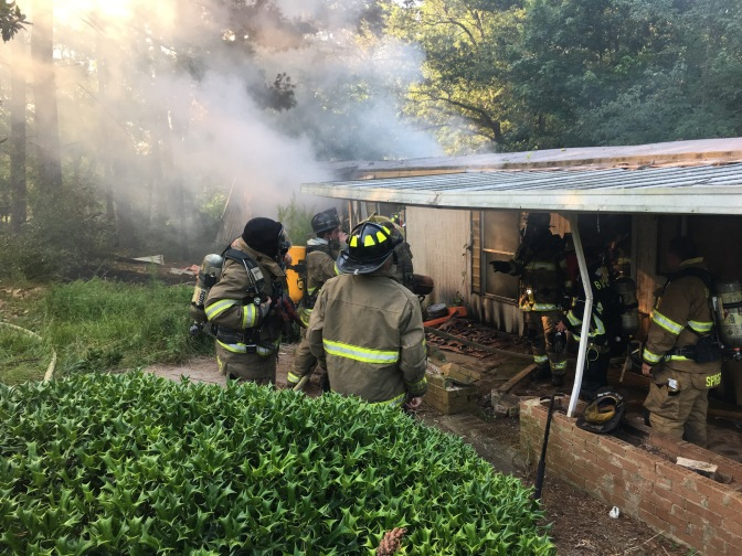 Structure Fire – Brown Rd (click for more photos)